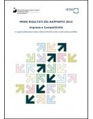 Primi risultati del Rapporto 2013 Impresa e Competitività